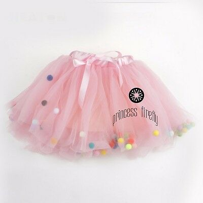 NEW! Bubble Tutu by Princess Firefly   Pink with mulitcolor   Birthday Party  2T