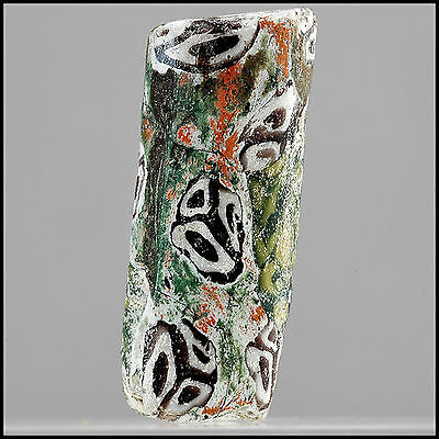 Ancient Glass Bead ~ Sassanian Late Roman / Early Islamic ~  8.94x23.6mm