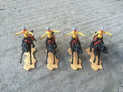 Cherilea Toys 1970's Cowboys on Horses (4 figures)