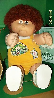 Cabbage Patch Kids Doll Coleco Boy Rare Thin Yarn Hair Boxed!