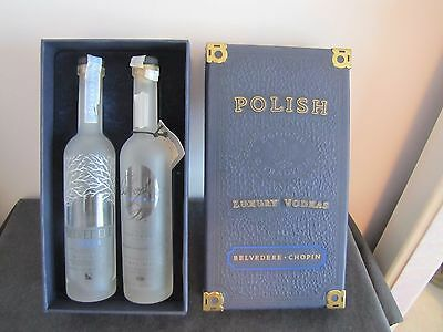VERY RARE Chopin & Belvedere Luxury Vodka Miniature Glass Bottles 50 ml w/Case