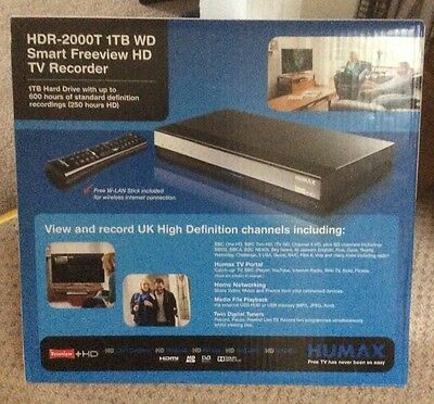 Humax HDR-2000T 1TB WD Smart Freeview HD TV Recorder With Wireless Stick