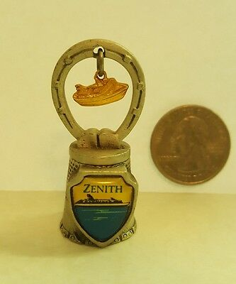 Zenith Cruise Ship Pewter Thimble