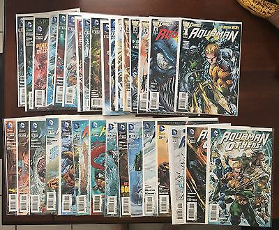 Aquaman New 52 Lot issue 0-30 , 3-D Variant and The Others NM+ 9.6