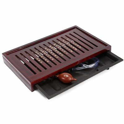 Teagas Chestnut Chinese Kung Fu Tea Tray for Chinese Teapot and Teacup Set