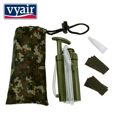 VYAIR 2,000 Litre Portable 0.1 Micron Water Filter for Soldiers, Camping, Hiking