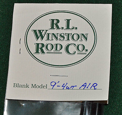 Winston Air 4 WT 9 FT 4pc Fly Rod Blank & Kit With Free Shipping!!