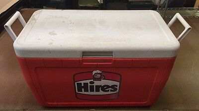 Vintage Hires Root Beer Logo Coleman Cooler Plastic Model 5286B