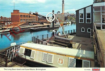 Postcard- Birmingham, The Long Boat And Canal Basin