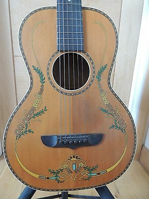 Stromberg-Voisinet Parlor Guitar 1920's/30's Natural w/ Original Graphics SUPERB