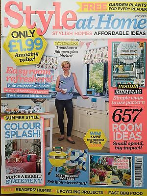 Style at Home Magazine July 7/2016 657 Room Ideas Style Pattern Mini Mag inside