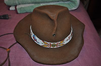 Vintage Hand Beaded Boy Scout Of America Official Hat