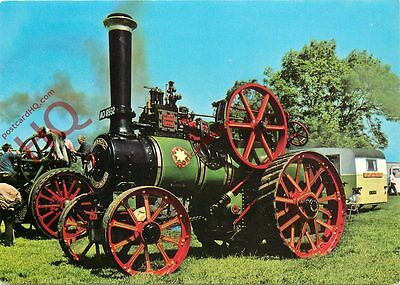 """Postcard- Traction Engine - Robey Traction Engine No. 28094 """"Pride of the Walk"""""""