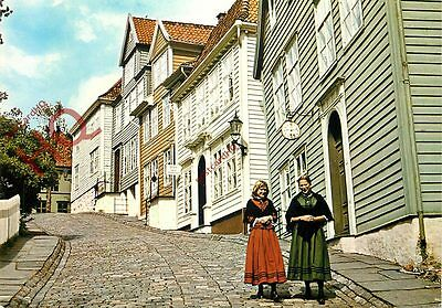 Postcard, Norway, Old Bergen