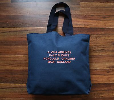 Hawaii Aloha Airlines Flight Honolulu Maui - Oakland Tote Bag