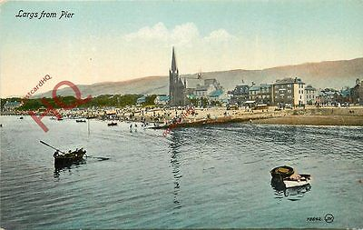 Postcard:;Largs, From Pier [Valentine's]