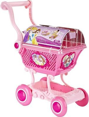 New Disney Princess Pink Royal Shopping Trolley Cart & Accessories Playset Toy