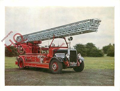 Postcard-:FIRE ENGINE, TURNTABLE APPLIANCE (1936) [SCIENCE MUSEUM]