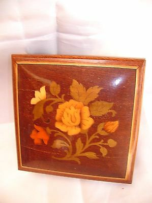 Vintage Sorrento Music Box-From Factory in Italy-Inlaid Wood by Hand-Lara's Them