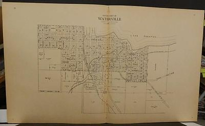 Minnesota Le Sueur County Map  Waterville 1928 Dbl Side/Page  L10#75