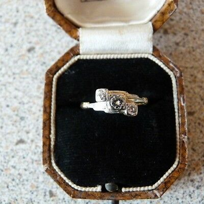 Beautiful 18 ct Gold & Platinum Art Deco Diamond Eternity Ring.