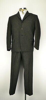 "40"" Short 1960s 3 Button Suit Italian Cut Mod Suit Vintage Ventless Jacket"