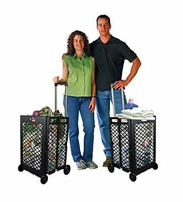Rolling Portable Folding Wheel Shopping Cart Basket Storage Utility Grocery NEW
