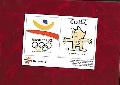 1992 Olympic Games Barcelona plain backed advertising card