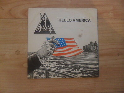 "DEF LEPPARD HELLO AMERICA b/w GOOD MORNING FREEDOM 1980 7"" VINYL 45 P/S"