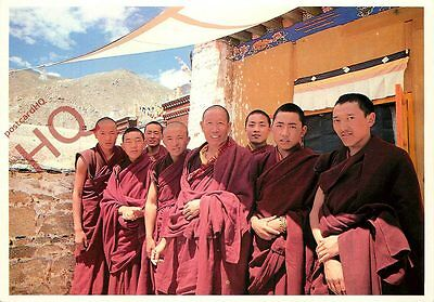 Postcard-:Tibet, Monks Of Nechung Monastery, Near Lhasa
