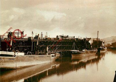 Postcard~ COAL SHIPMENT AT DUNSTON STAITHS AND BASIN NER (REPRO)