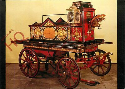 Postcard~ HORSE-DRAWN FIRE ENGINE, BUILT BY MERRYWEATHER AND SON, 1862