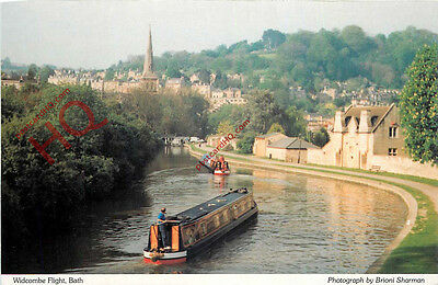 Postcard~ Kennet and Avon Canal, Bath, Widcombe Flight