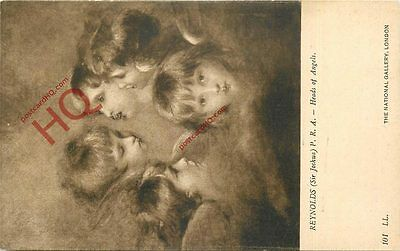 Postcard~ Sir Joshua Reynolds, Heads Of Angels