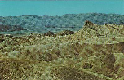 Postcard--Manly Beacon and Death Valley from Zabriskie Point