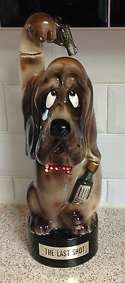 Vintage Musical Decanter In The Shape Of A Dog 'the Last Shot'