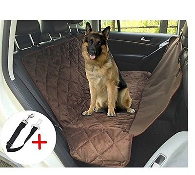 """Hmcity Dog Car Seat Cover Auto Back Rear Seat Barrier 62"""" x 43"""", Quilted Hammock"""
