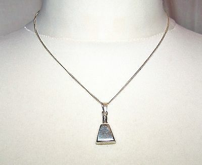 Vintage Solid Silver Chain Necklace, Tiny Silver Perfume Bottle Pendant