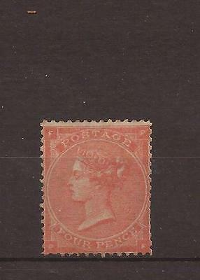 1862 - SG 80 4d pale red pl 3 fine LMM  - £2000