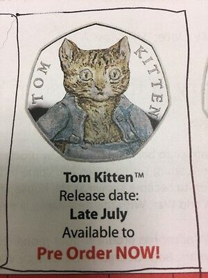 UK 2017 Tom Kitten Silver Proof 50p (BEATRIX POTTER)
