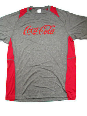 Coca-Cola Heather Gray and Red Sport Fabric Tee T-shirt X-Large XL  - BRAND NEW