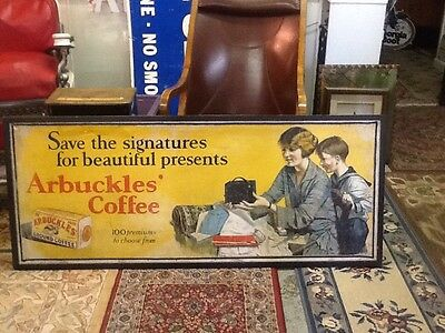 Large Arbuckle's Coffee Advertising  Sign