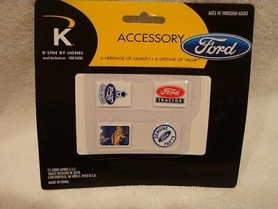 K-Line by Lionel ~Ford Tin Sign Replicas ~4 Pack ~ New