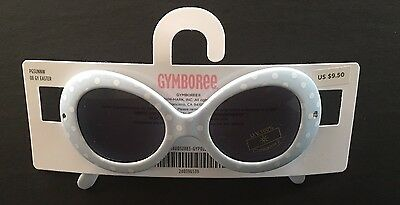 NWT Gymboree Ice Cream Social 0-2 Years Girls Light Blue Polka Dot Sunglasses