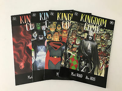 Kingdom Come (DC Comics) Mark Waid, Alex Ross - 4 issue series - 1st printings