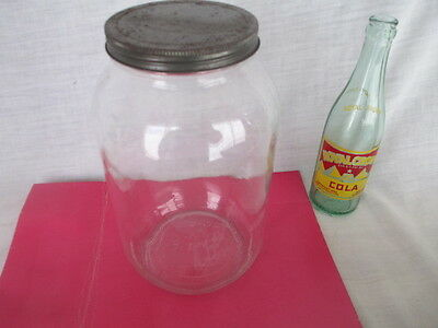 Vintage Advertising GENERAL STORE  Glass Gallon Jar Storage Container w/Lid