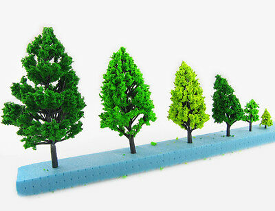 Architectural 40MM Scale Tree Model 3D Modelling Miniature Trees Pack of 10