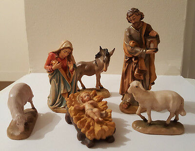 Hand Carved Nativity Set Christmas Figures Xmas Decorations