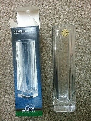"Cristal d'Arques BEAUBOURG Glass Vase 7 3/4"" 20 cm 24% Geniune Lead Crystal MINT"