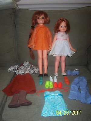 Crissy & Baby Crissy with Outfit Lot Excellent Used  Condition